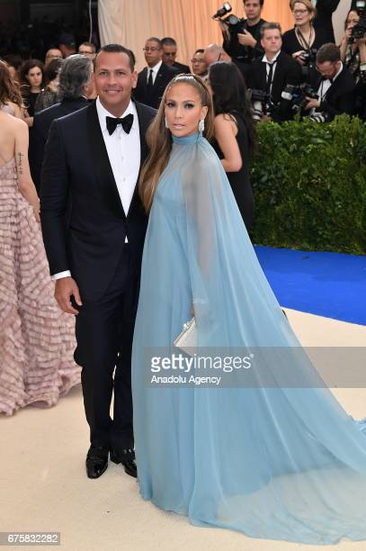 Alex Rodriguez and Jennifer Lopez attend the 'Rei Kawakubo / Comme des Garcons Art Of The InBetween' Costume Institute Gala 2017 at Metropolitan...