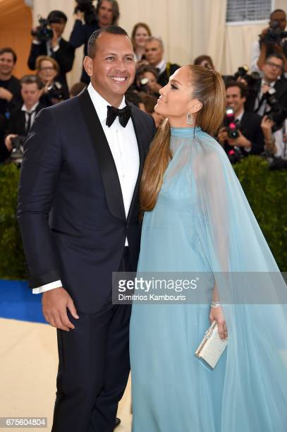 Alex Rodriguez and Jennifer Lopez attend the Rei Kawakubo/Comme des Garcons Art Of The InBetween Costume Institute Gala at Metropolitan Museum of Art...