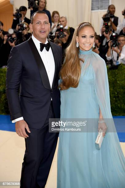 Alex Rodriguez and Jennifer Lopez attend the 'Rei Kawakubo/Comme des Garcons Art Of The InBetween' Costume Institute Gala at Metropolitan Museum of...