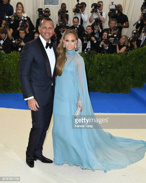 Alex Rodriguez and Jennifer Lopez attend the 'Rei Kawakubo/Comme des Garcons Art Of The InBetween' Costume Institute Gala at the Metropolitan Museum...
