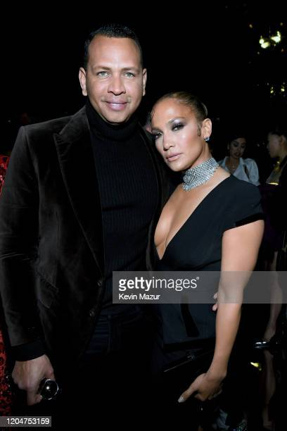 Alex Rodriguez and Jennifer Lopez attend the Tom Ford AW20 Show at Milk Studios on February 07, 2020 in Hollywood, California. Alex Rodriguez