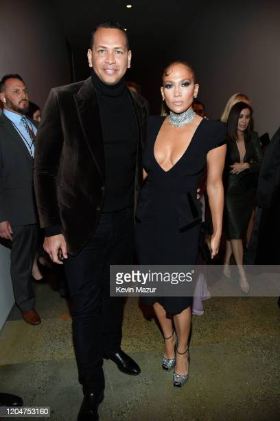 Alex Rodriguez and Jennifer Lopez attend the Tom Ford AW20 Show at Milk Studios on February 07 2020 in Hollywood California Alex Rodriguez