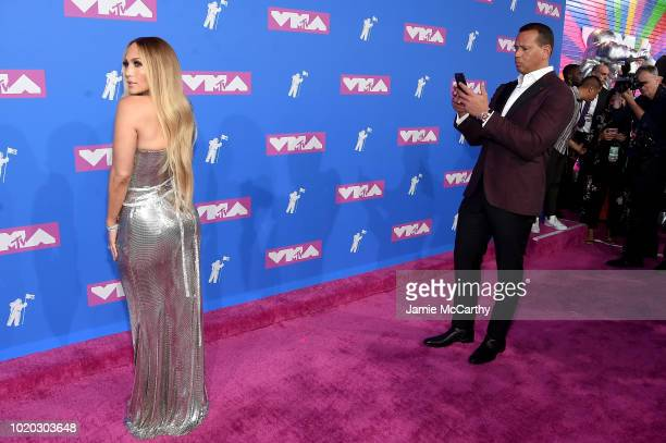 Alex Rodriguez and Jennifer Lopez attends the 2018 MTV Video Music Awards at Radio City Music Hall on August 20 2018 in New York City