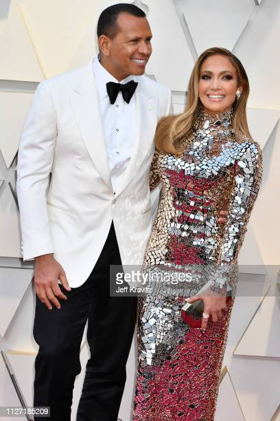 Alex Rodriguez and Jennifer Lopez attends the 91st Annual Academy Awards at Hollywood and Highland on February 24 2019 in Hollywood California