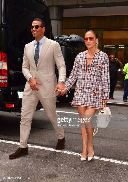 Jennifer Lopez and Alex Rodriguez seen out and about in Manhattan on August 17 2018 in New York City