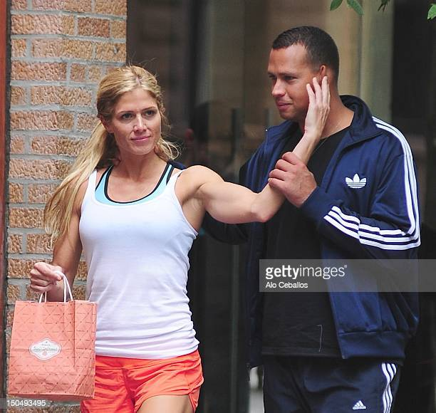 Alex Rodriguez and Torrie Wilson are seen in the West Village on August 19 2012 in New York City