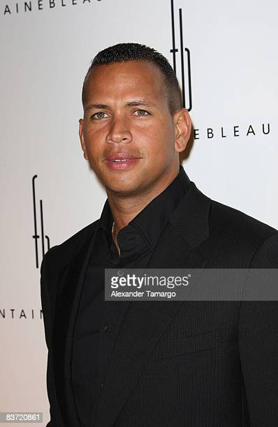 Alex Rodriguez arrives for the grand opening of Fontainebleau Miami Beach on November 14 2008 in Miami Beach Florida