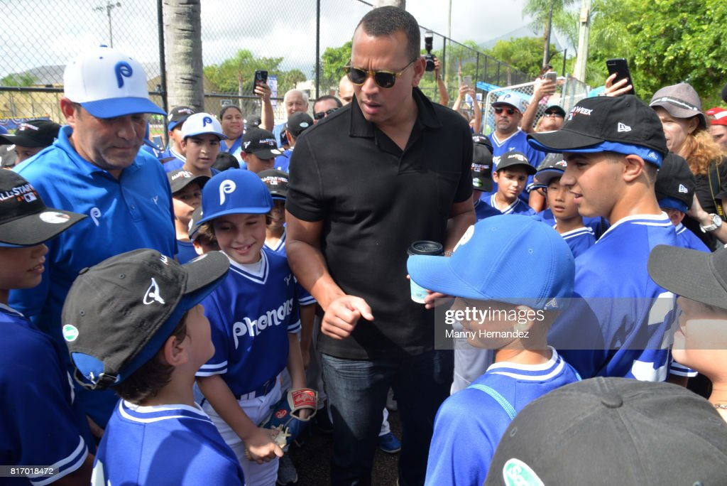 Alex Rodriguez at the MLB All Star Week Miami Ribbon Cutting at the Boys and Girls Club Kendall Teen Center on July 11, 2017 in Miami, Florida.