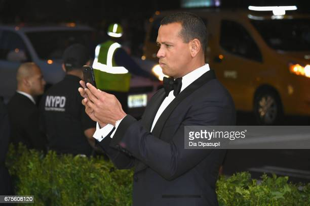 Alex Rodriguez attends the 'Rei Kawakubo/Comme des Garcons Art Of The InBetween' Costume Institute Gala at Metropolitan Museum of Art on May 1 2017...