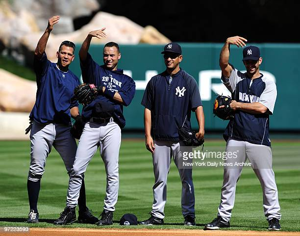 Alex Rodriguez Derek Jeter bullpen catcher Roman Rodriguez and Jorge Posada say bring on Game 5 on day off with AL pennant one victory away