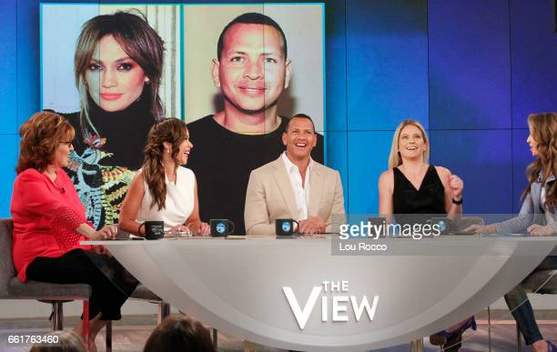 Alex Rodriguez guest cohosts on Guy Day Friday and Katey Sagal is the guest today on Walt Disney Television via Getty Images's The View The View airs...