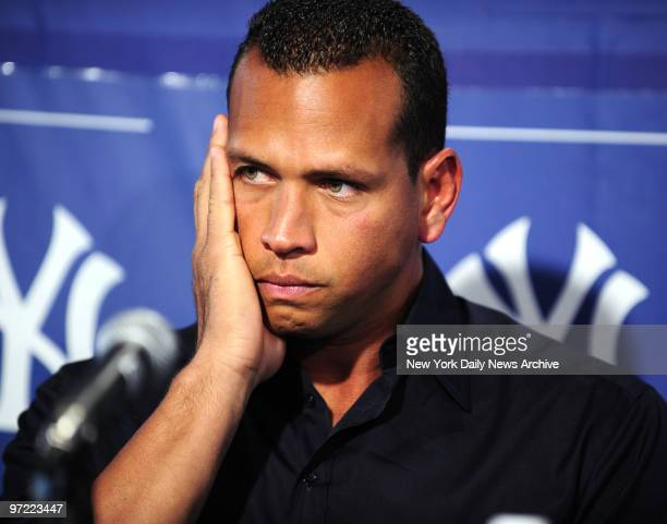 Alex Rodriguez holds press conferewnce to address his steroid use at Yankees Spring Training at George M Steinbrenner Field