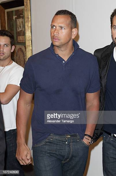 Alex Rodriguez is sighted during Art Basel Miami Beach at the Miami Beach Convention Center on December 1 2010 in Miami Beach Florida
