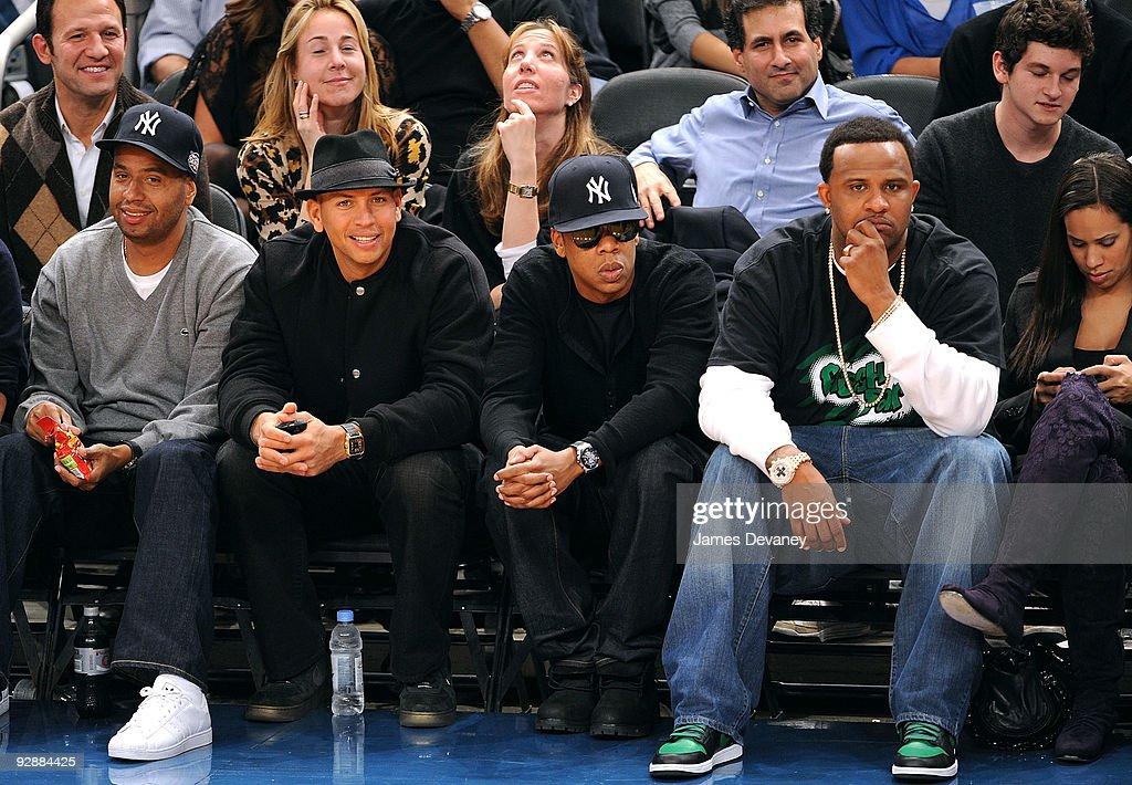 Celebrities Attend Cleveland Cavaliers Vs. New York Knicks