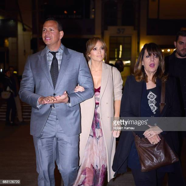 Alex Rodriguez Jennifer Lopez and and her mother's nanny seen out on Mother's Day in Manhattan on May 14 2017 in New York City