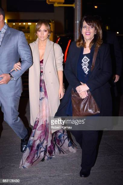 Alex Rodriguez Jennifer Lopez and her mother's nanny seen out on Mother's Day in Manhattan on May 14 2017 in New York City