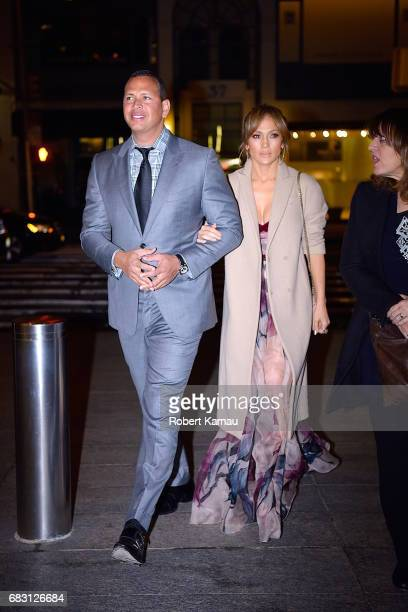 Alex Rodriguez Jennifer Lopez and her nanny seen out on Mother's Day in Manhattan on May 14 2017 in New York City