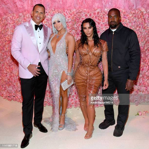 Alex Rodriguez Jennifer Lopez Kim Kardashian West and Kanye West attend The 2019 Met Gala Celebrating Camp Notes on Fashion at Metropolitan Museum of...