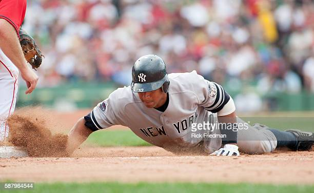 Alex Rodriguez of the New York Yankees at Fenway Park in Boston MA during the American League Championship Series against the Boston Red Sox on...