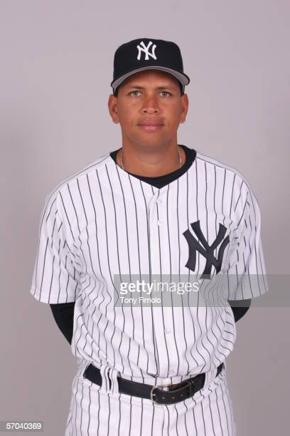 Alex Rodriguez of the New York Yankees during photo day at Legends Field on February 24 2006 in Tampa Florida