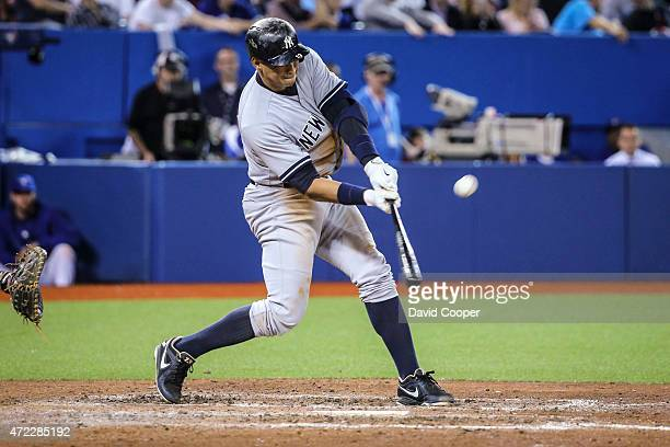 TORONTO ON MAY 5 Alex Rodriguez of the New York Yankees flied out to right in the top of the 9th during the game between the Toronto Blue Jays and...