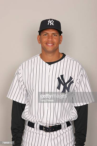 Alex Rodriguez of the New York Yankees poses for a portrait during photo day at Legends Field on February 21 2008 in Tampa Florida