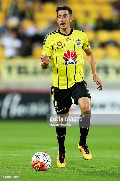 Alex Rodriguez of the Phoenix in action during the round 22 ALeague match between the Wellington Phoenix and Adelaide United at Westpac Stadium on...