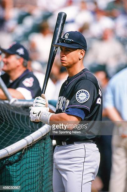 Alex Rodriguez of the Seattle Mariners during the All-Star Game on July 7, 1998 at Coors Field in Denver, Colorado.