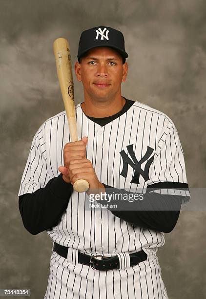 Alex Rodriguez of the Yankees poses for a portrait during the New York Yankees Photo Day at Legends Field on February 23 2007 in Tampa Florida