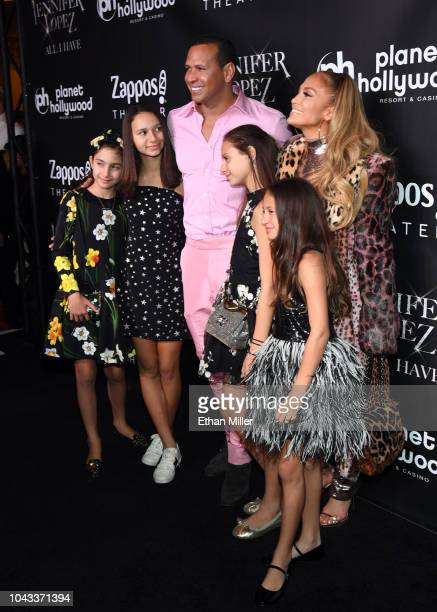 Alex Rodriguez Planet Hollywood headliner Jennifer Lopez and family on the red carpet following the finale performance of Lopez's recordbreaking...