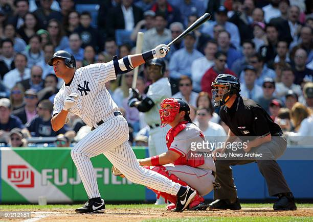 Alex Rodriguez puts the New York Yankees on the board with a solo homer in the fourth inning against the Boston Red Sox at Yankee Stadium The Yanks...