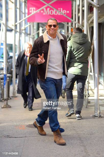 Alex Rodriguez seen out and about in Manhattan on March 18 2019 in New York City