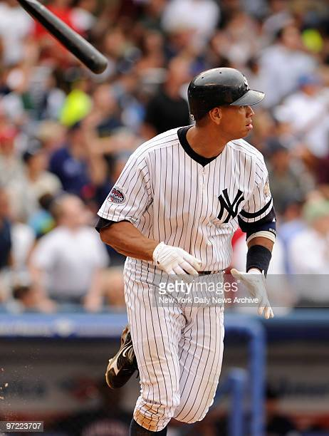 Alex Rodriquez drives in two runs in the sixth inning during Wednesday 's game between the New York Yankees and the Minnesota Twins at Yankees...