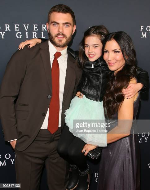 Alex Roe Abby Ryder Fortson and Bethany Ashton attend the premiere of Roadside Attractions' 'Forever My Girl' on January 16 2018 in Los Angeles...