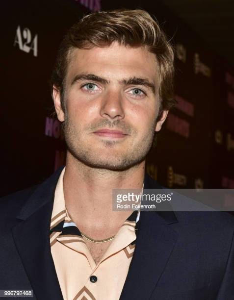 Alex Roe arrives at the screening of A24's 'Hot Summer Nights' at Pacific Theatres at The Grove on July 11 2018 in Los Angeles California