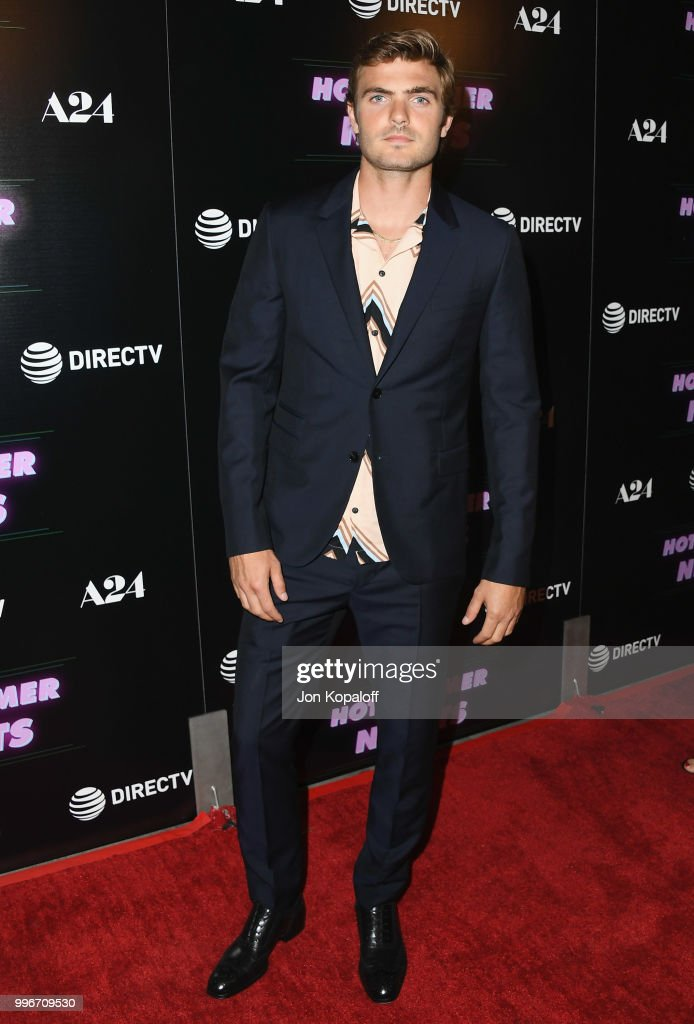 Alex Roe attends the Los Angeles special screening of 'Hot Summer Nights' at Pacific Theatres at The Grove on July 11, 2018 in Los Angeles, California.