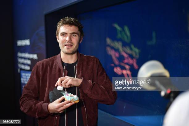 Alex Roe attends the POPSUGAR x Freeform Mermaid Museum VIP Night at Goya Studios on March 21 2018 in Los Angeles California