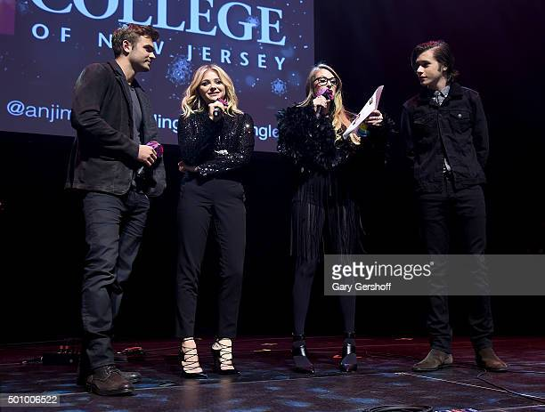 Alex Roe Chloe Grace Moretz Erica 'America' Hayden and Nick Robinson speak onstage at Z100's Jingle Ball 2015 Z100 CocaCola All Access Lounge Show at...