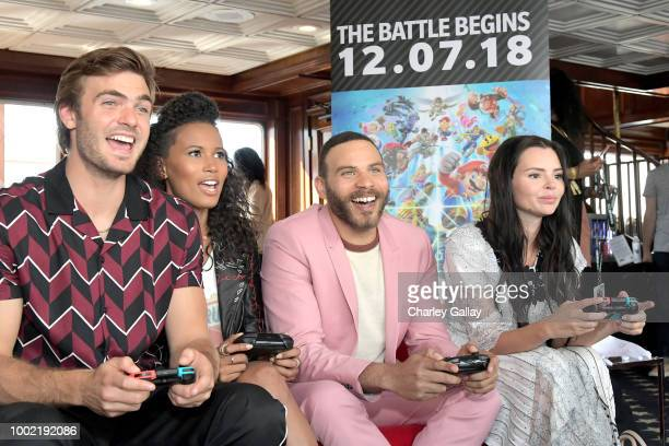 Alex Roe Fola EvansAkingbola Ian Verdun and Eline Powell put their gaming skills to the test playing Mario Kart 8 Deluxe on Nintendo Switch at the...