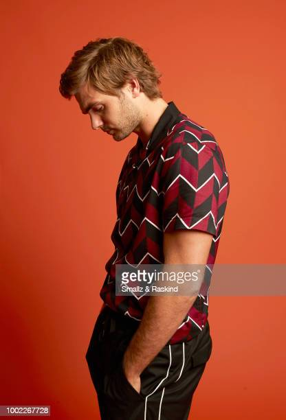 Alex Roe from Freeform's 'Siren' poses for a portrait in the Getty Images Portrait Studio powered by Pizza Hut at San Diego 2018 Comic Con at Andaz...