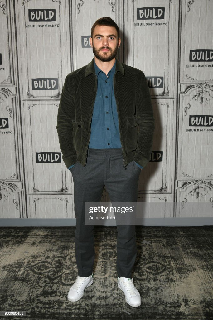 Alex Roe visits Build at Build Studio on January 17, 2018 in New York City.