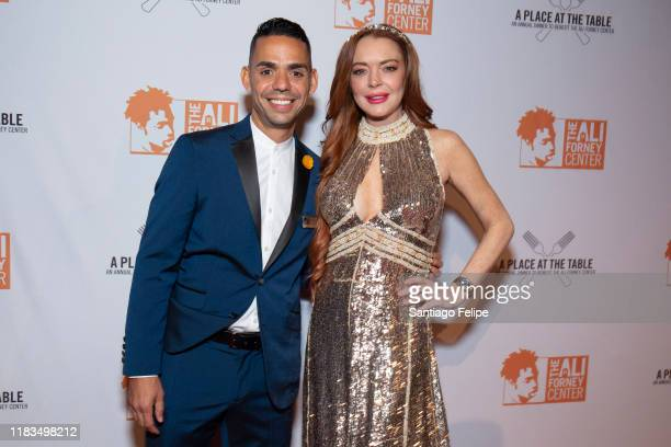Alex Roque and Lindsay Lohan attend the 2019 Ali Forney Center Gala at Cipriani Wall Street on October 25 2019 in New York City