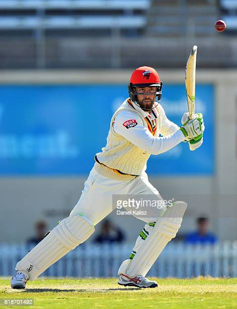 Alex Ross of South Australia bats during the Tour match between South Australia and South Africa at Gliderol Oval on October 28 2016 in Adelaide...