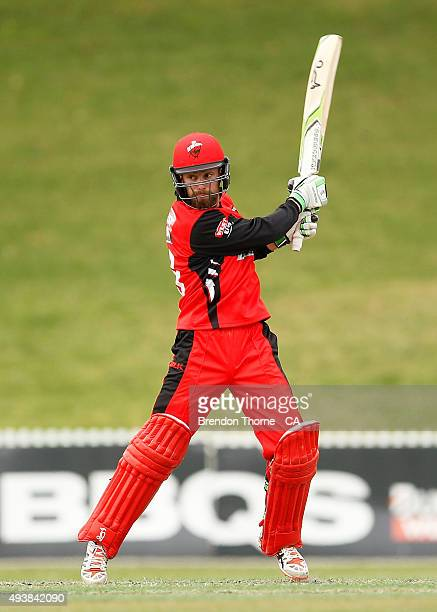 Alex Ross of South Australia plays a stroke on the off side during the Matador BBQs One Day Cup Elimination Final match between Victoria and South...