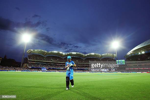 Alex Ross of the Adelaide Strikers comes from the field after getting out during the Big Bash League Semi Final match between the Adelaide Strikers...