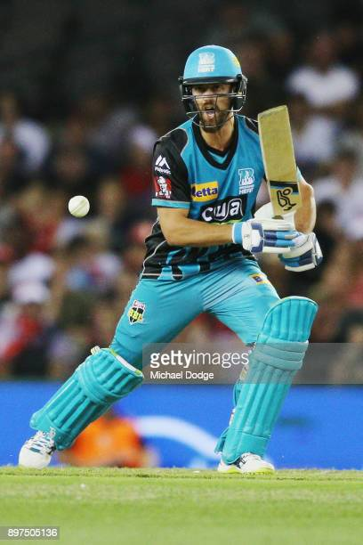 Alex Ross of the Heat bats during the Big Bash League match between the Melbourne Renegades and the Brisbane Heat at Etihad Stadium on December 23...