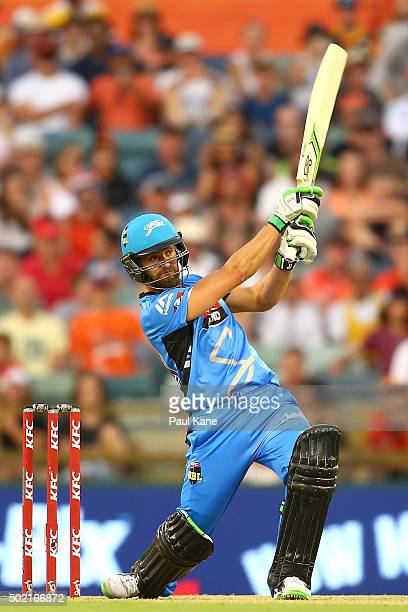 Alex Ross of the Strikers bats during the Big Bash League match between Perth Scorchers and Adelaide Strikers at WACA on December 21 2015 in Perth...