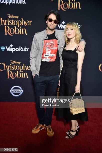 Alex Ross Perry and Anna BakKvapil attend the premiere of Disney's 'Christopher Robin' at Walt Disney Studios on July 30 2018 in Burbank California