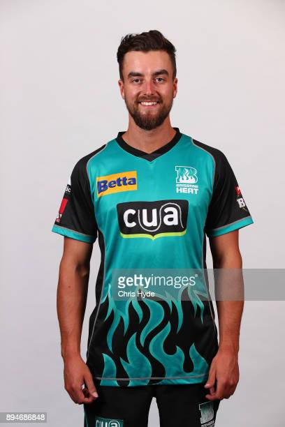 Alex Ross poses during a Brisbane Heat Big Bash League headshots session on December 18 2017 in Brisbane Australia