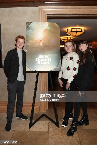Alex Rubin Lola Wayne Villa and Lola Reid attend Tangerine Entertainment's Reception for How Does it Start Hosted At The RAND Luxury Escape at St...